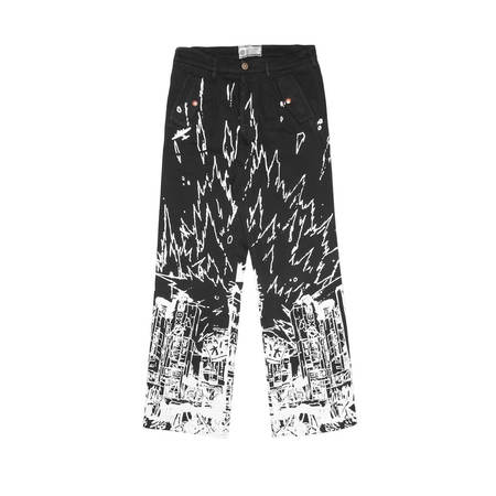FORMY STUDIO Destroy cargo pants - BLACK