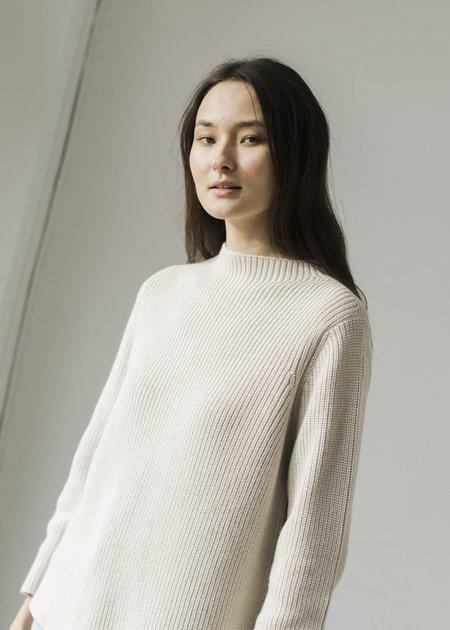 Bare Knitwear Mock Neck Pullover - Natural