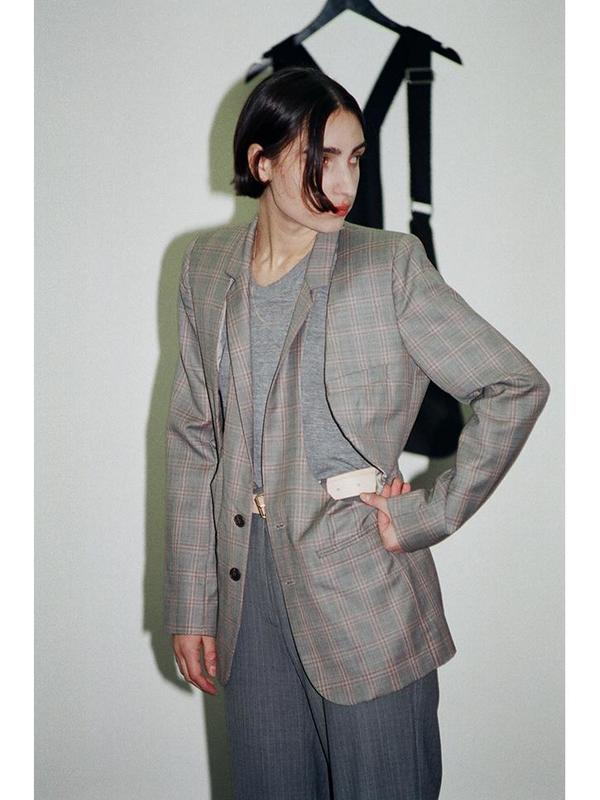 Bless Demi moore jacket - Grey/pink