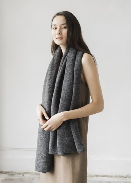 Bare Knitwear Travel Wrap - Charcoal