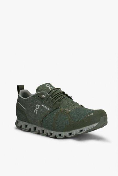 ON running Cloud Waterproof Running Shoe - Forest/Lunar