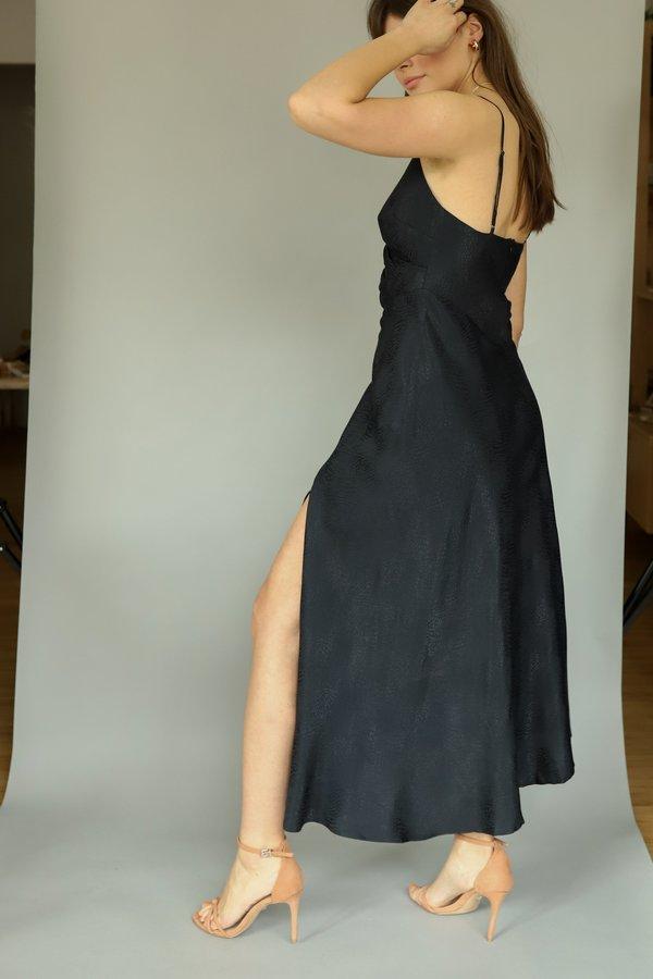ASTR the Label Python Bastille Dress - Black