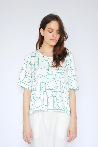 Dusen Dusen Blockhead Green Big Tee