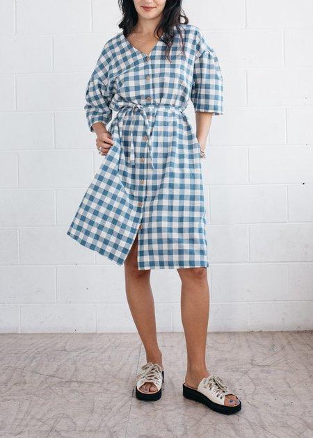 FME Apparel The Echo Dress - blue / white