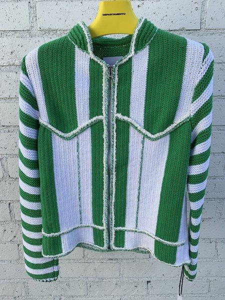 Judy Turner Handknit Seapunk Jacket - shamrock / ivory