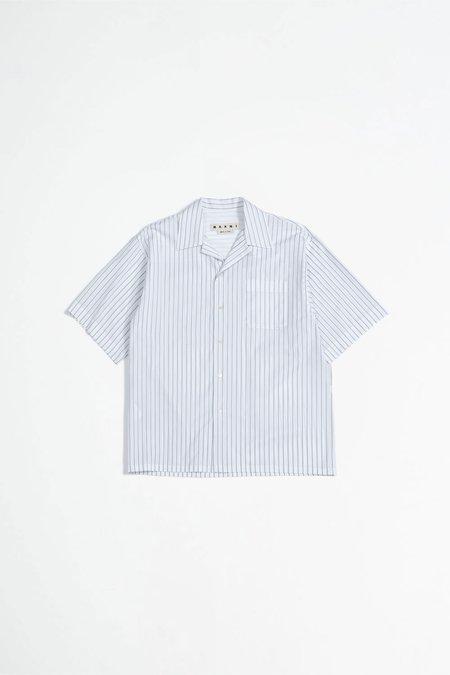 Marni Zig zag shirt - navy/white