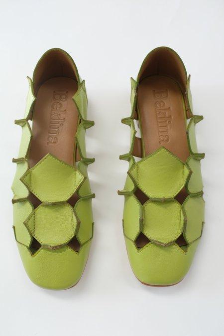 Beklina Square Pieced Flats - Lime