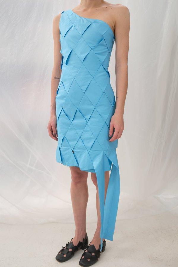Mozh Mozh Checkered Colibri Dress - Azul