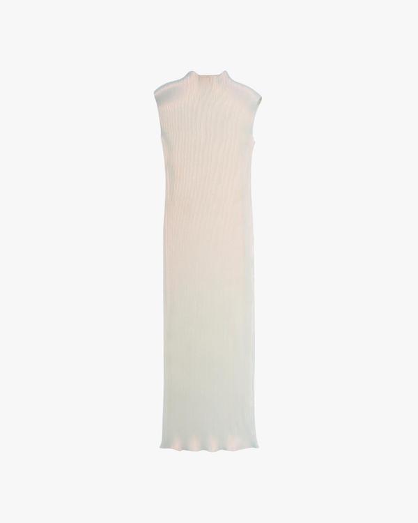 Helmut Lang Pleated Lurex Dress - Pearl