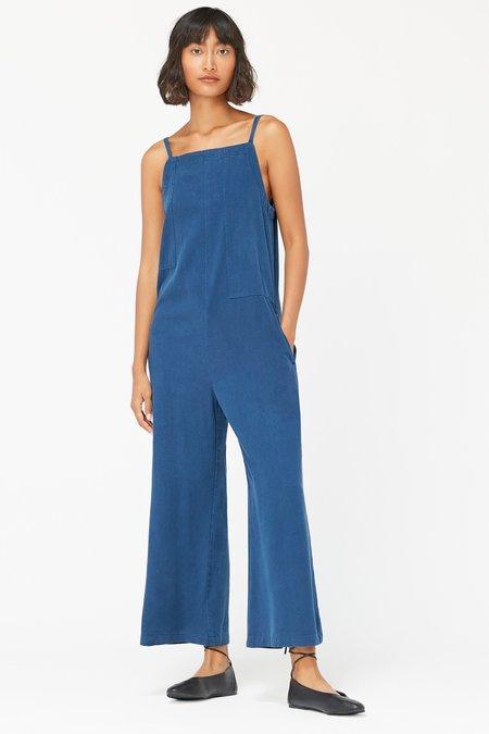 Lacausa Silk Brooks Jumpsuit - Sapphire