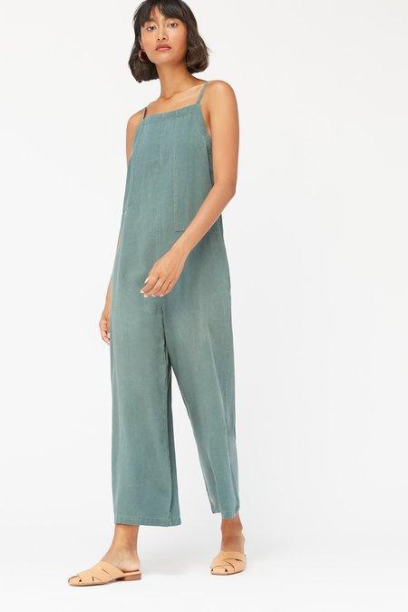 Lacausa Silk Brooks Jumpsuit - Seaweed