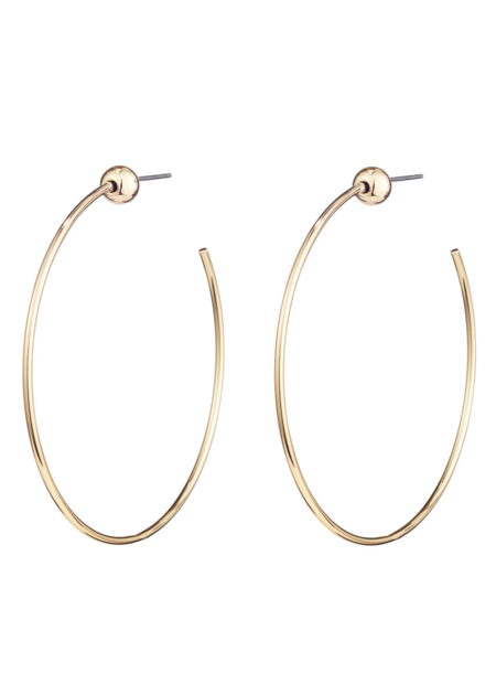 Jenny Bird Small Icon Hoops - Gold