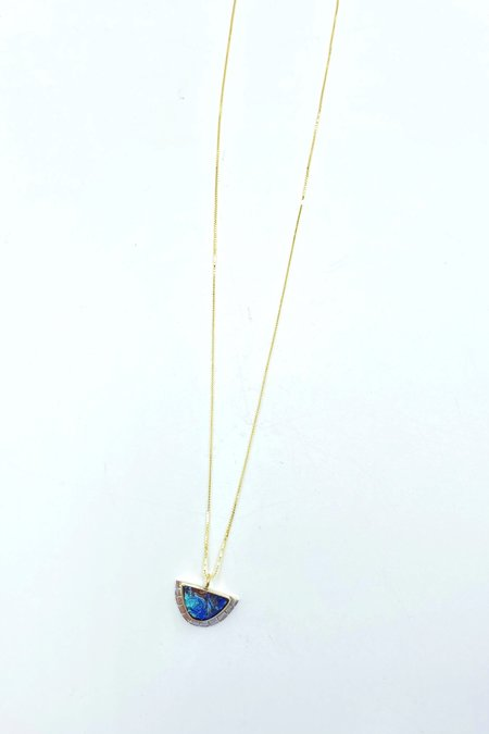 Young In The Mountains Azurite Selene Necklace