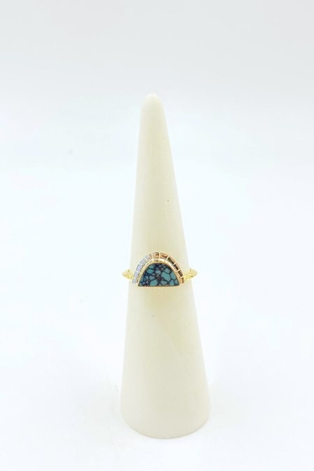 Young In The Mountains Colina Variscite Selene Ring