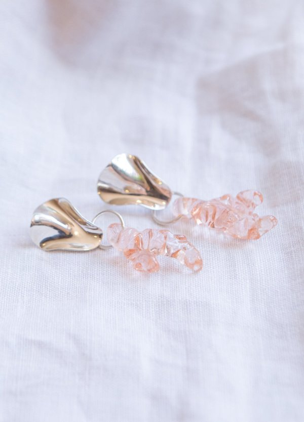 Cled Coral Reef Earrings - Sterling Silver