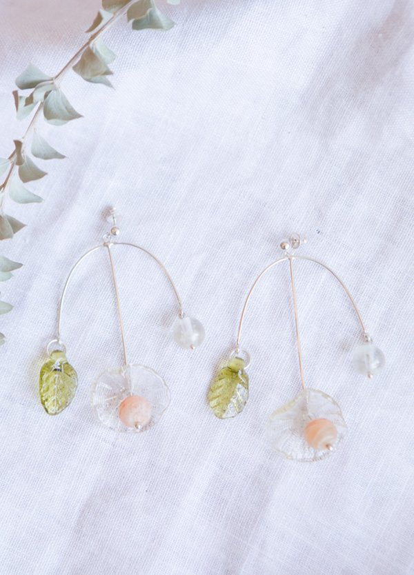 Cled Floral Cluster Earrings - Sterling Silver