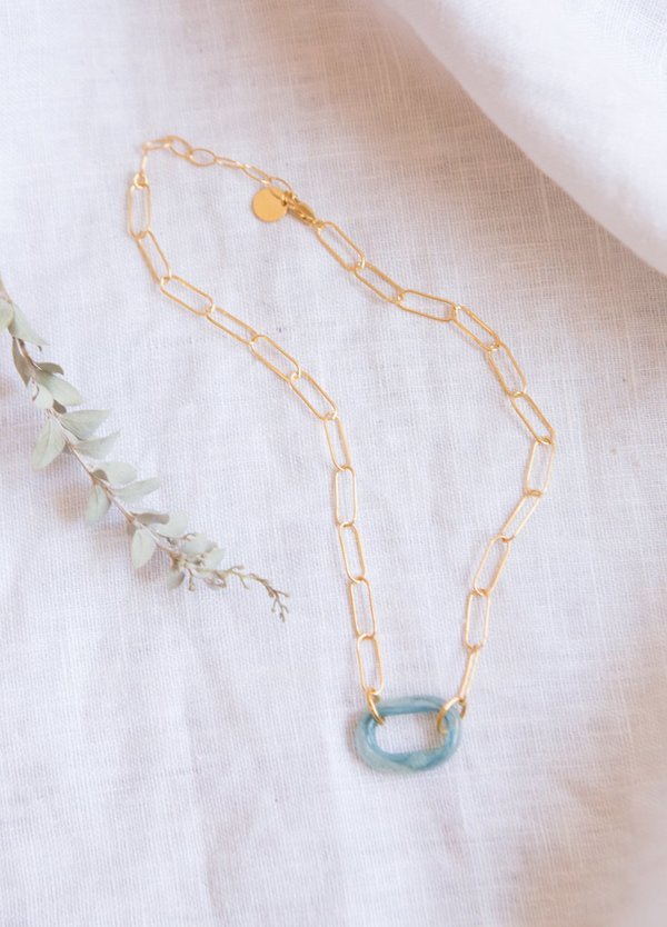 Cled The Day Loop Necklace - Sterling Silver