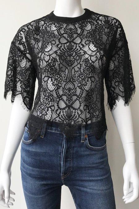 Jonathan Simkhai Corded Lace Blouse - Black