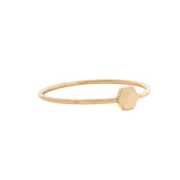 Mociun Gold Mini Hexagon Ring