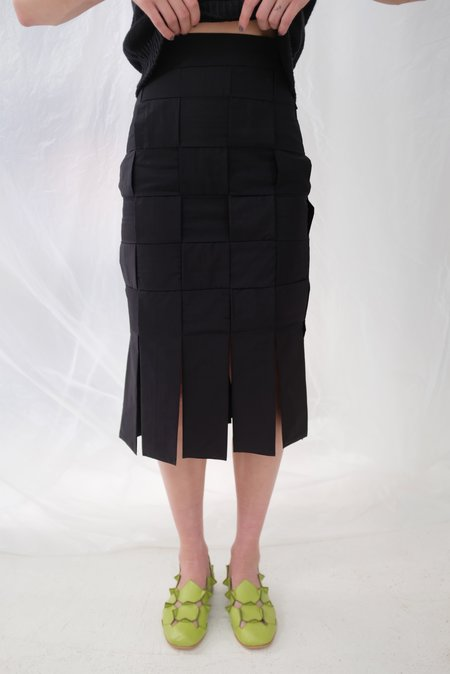 Mozh Mozh Checkered Arna Skirt - Black
