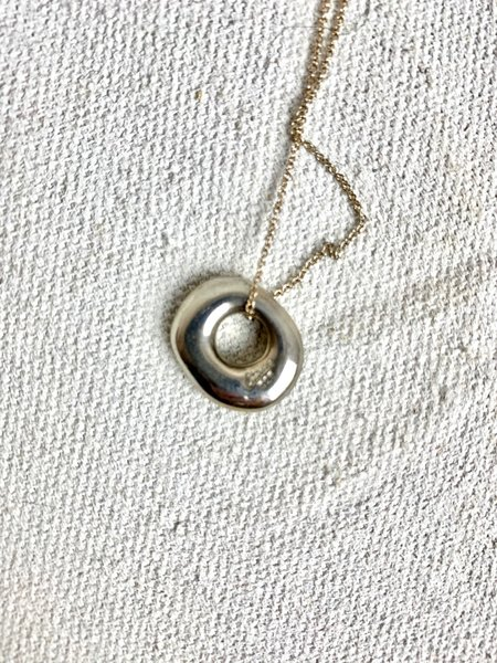 Chorthip Circle Pendant Necklace - sterling silver