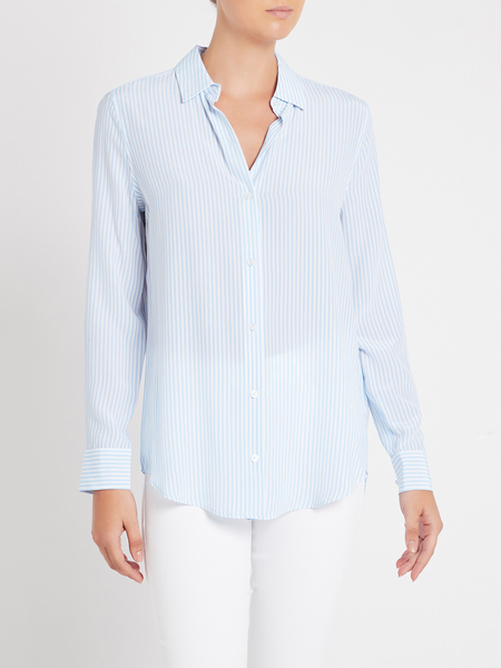 Equipment Essential Shirt - Serenity / Bright White