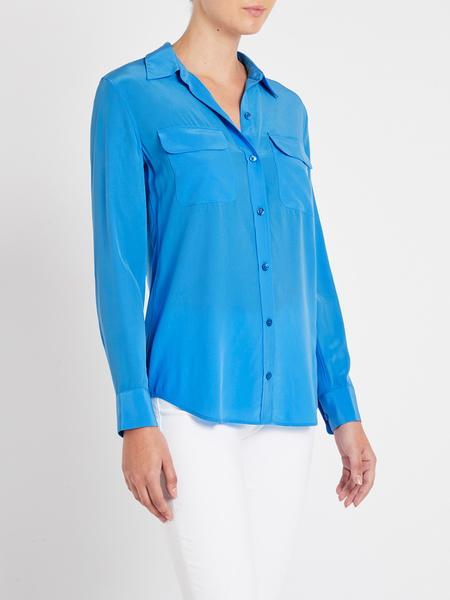 Equipment Slim Signature Shirt - starling blue