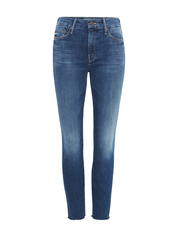 Mother Denim The Looker Ankle Fray - Dark Denim