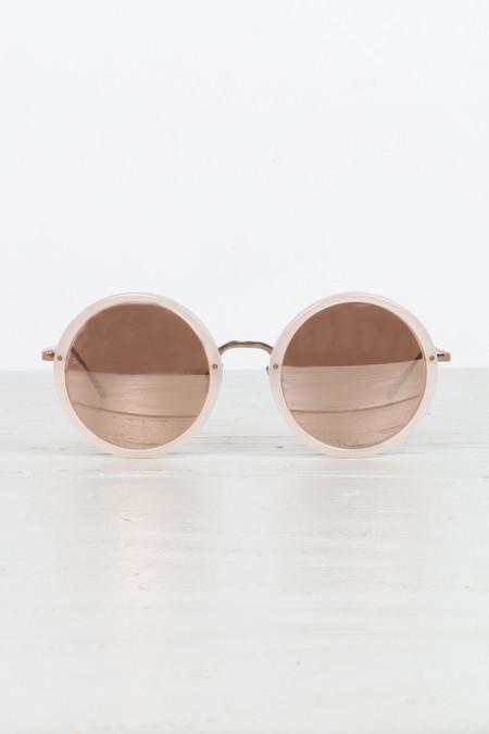Linda Farrow Round Sunglasses - Milky Pink