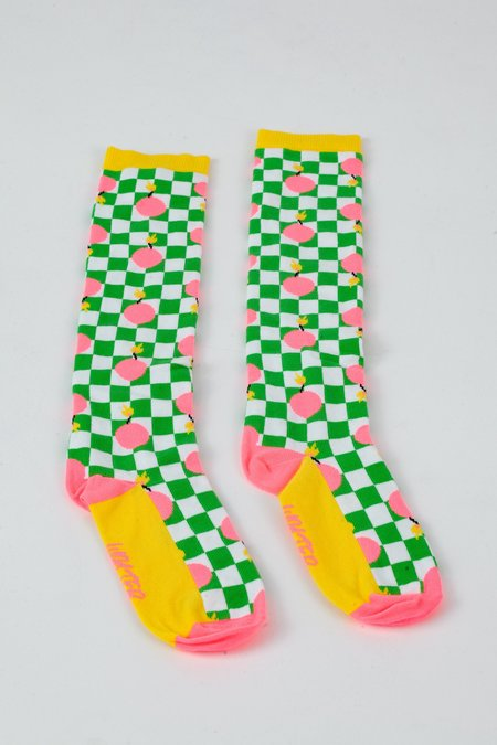 Walter Van Beirendonck Bomb Long Socks - Green