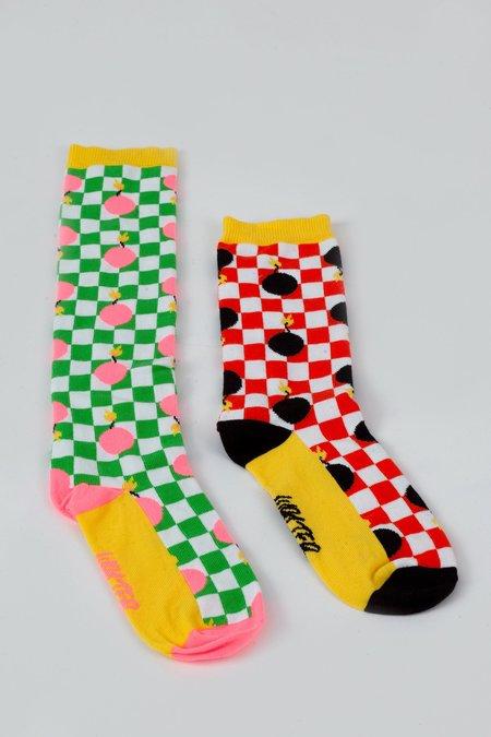 Walter Van Beirendonck Bomb Short Socks - Red