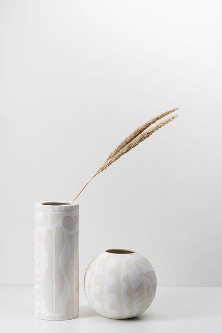 The Granite Collage Vases - white