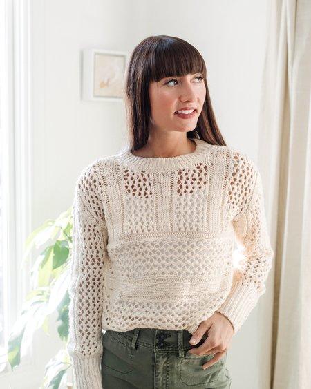 Saltwater Luxe Open Weave Sweater - Vanilla