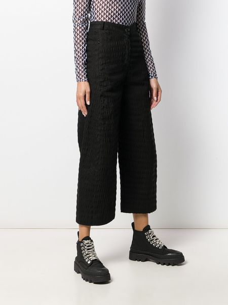 HENRIK VIBSKOV Prawn Pants - Black Seersucker