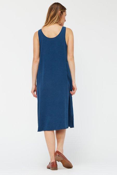 Lacausa Reversible Silk Dress - Sapphire