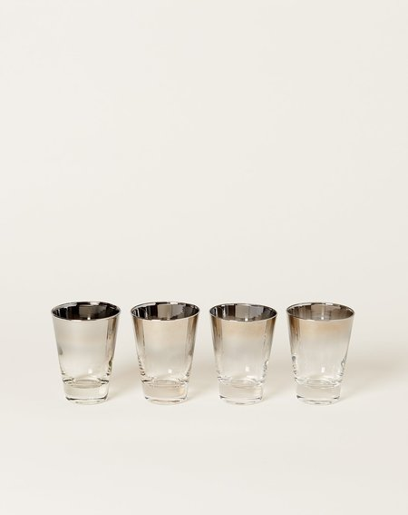 Vintage Four Tall Mid Century Modern Shot Glass