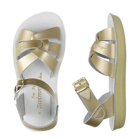 Saltwater Sandals Salt Water Child Swimmer Sandals Gold
