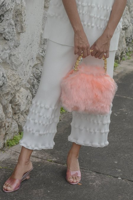 Lykke Wullf Faux Fur Bag - Pink