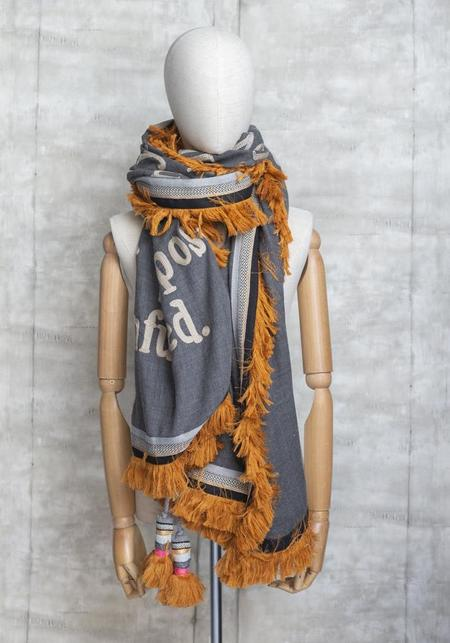Karien Belle Those Who Love You Embroidered Poetry Fringe Edge Scarf