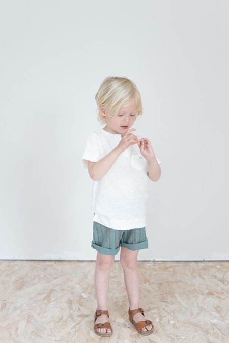 kids Búho Apolo Unisex Short - musk / red
