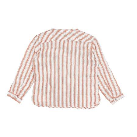 kids Búho Paul Baby Stripes Shirt - white/brick