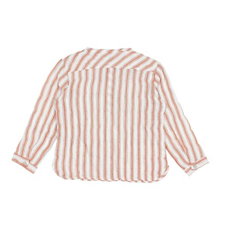 kids Búho Paul Stripes Shirt - white/brick