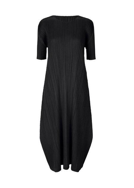 Issey Miyake Longline Short Sleeve Dress - Black