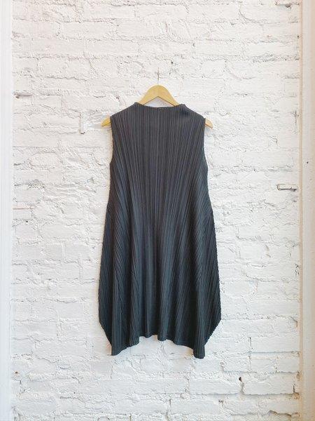Issey Miyake Mellow Pleats Tunic Dress - Black
