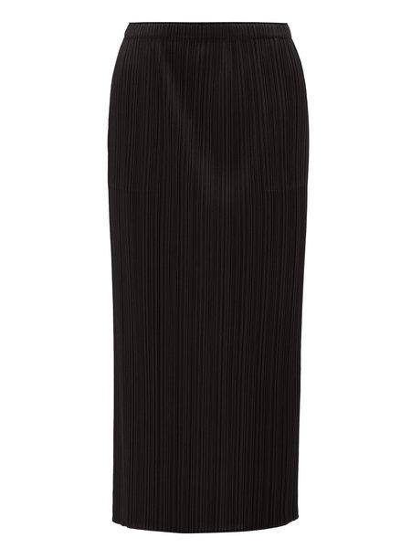 Issey Miyake Straight Skirt - Black
