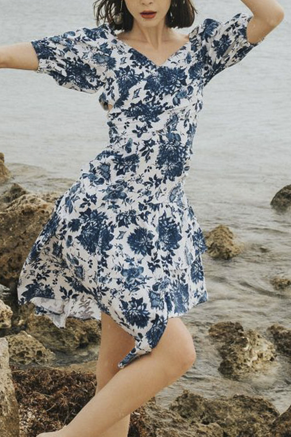 House of Sunny Floral Sundress - Elysium Florals