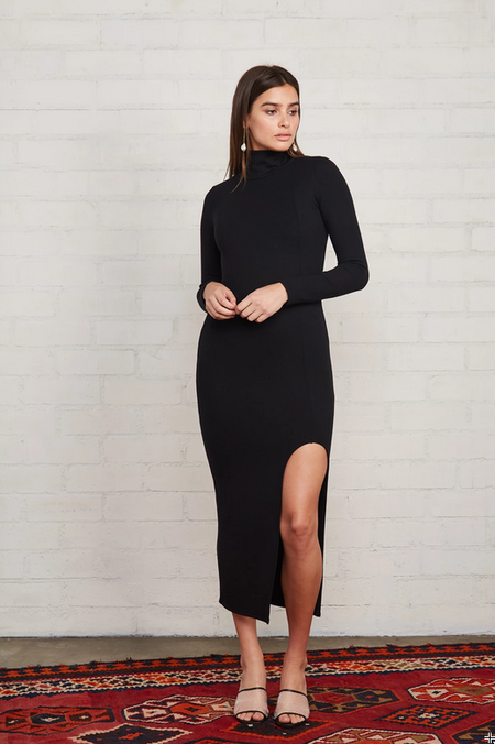 Rachel Pally Luxe Rib Pamela Dress - Black