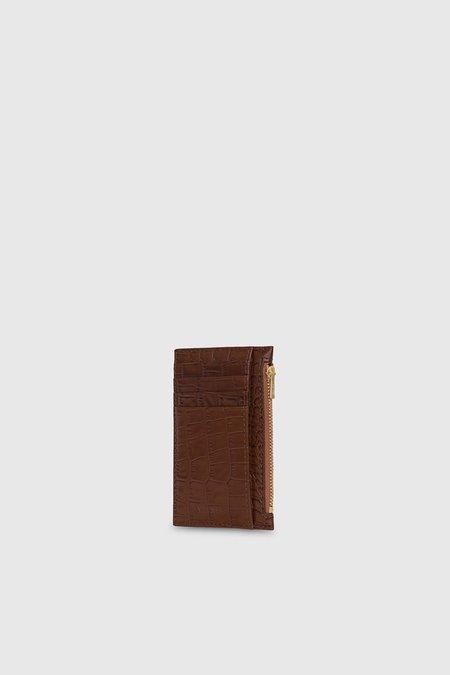 Yu Mei 1/8 Frank Cardholder - Cognac Croc