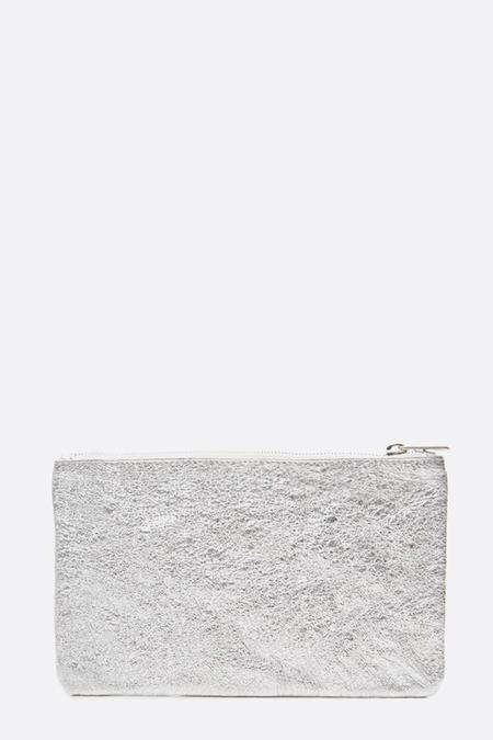 Zilla Mirror Metallic Big Pouch - Silver