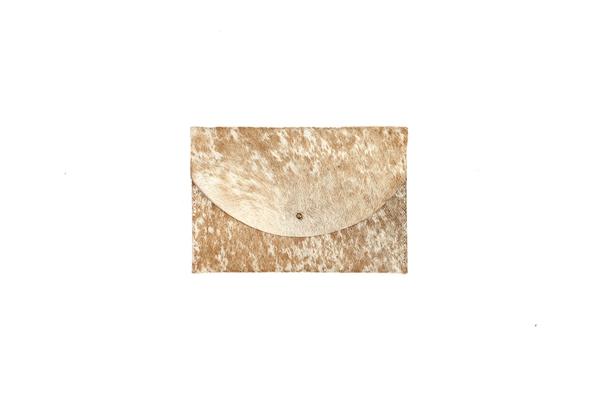 Primecut CARAMEL SPECKLED ENVELOPE CLUTCH